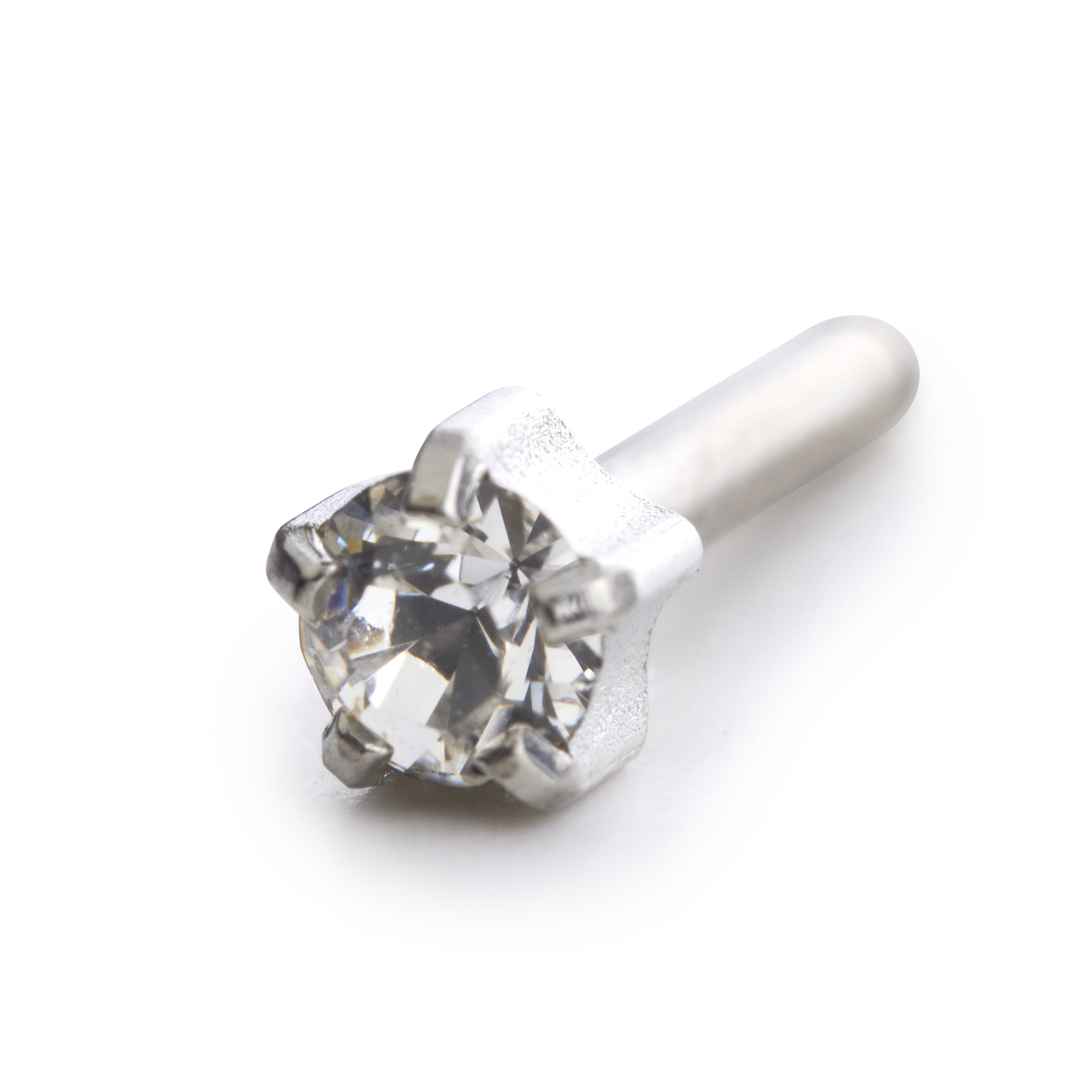 ear piercing Ear Piercing Information Tiffany Crystal 4mm three quarter