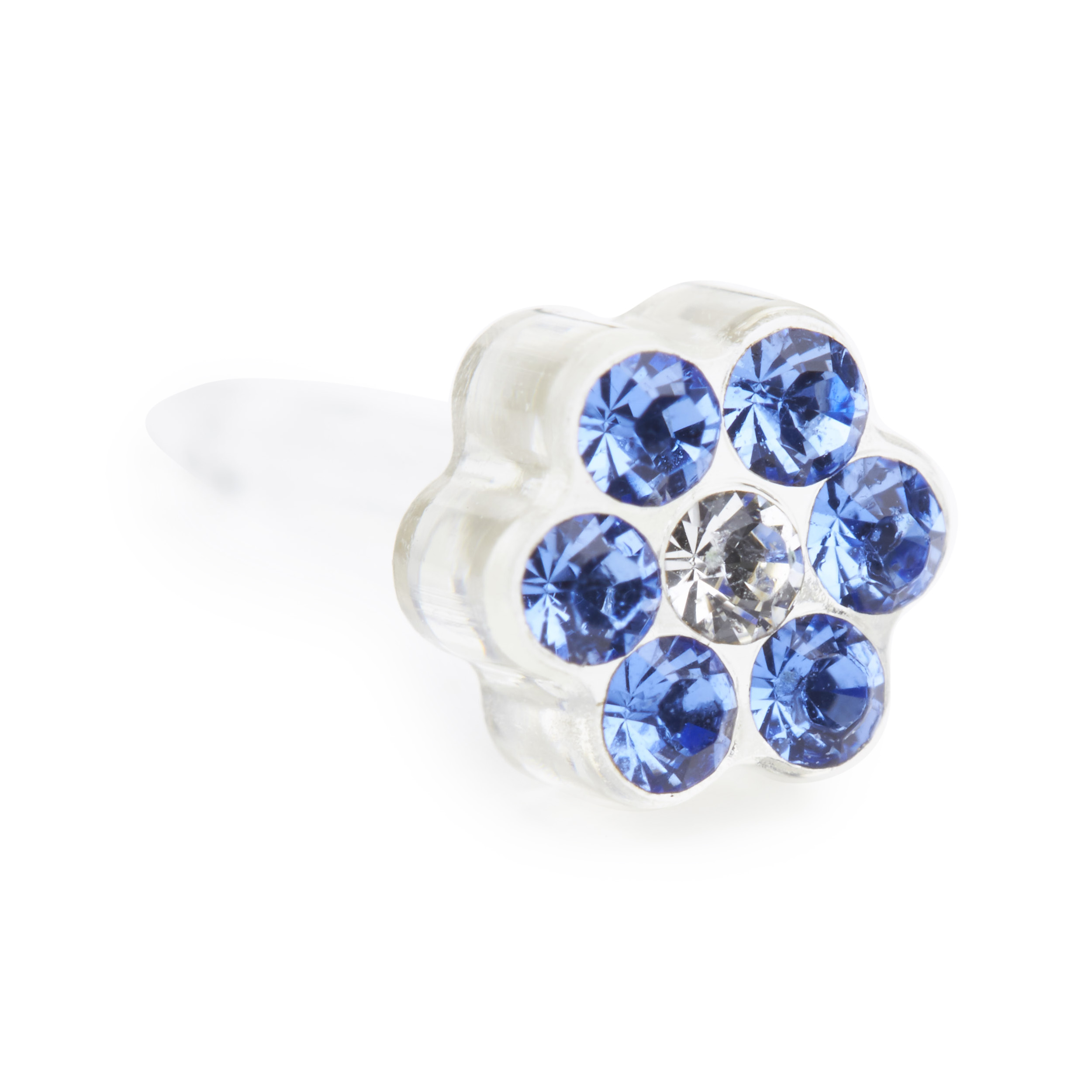 Ear Piercing: Daisy Sapphire sapphire white three quarter