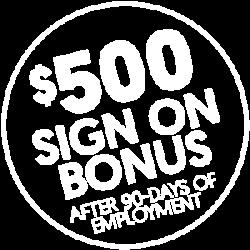 Pediatric People $500 Sign On Bonus